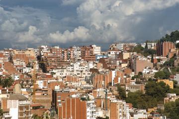 Alta densidad de población en la ciudad de Barcelona.