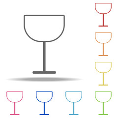 wineglass icon. Elements of kitchen in multi color style icons. Simple icon for websites, web design, mobile app, info graphics