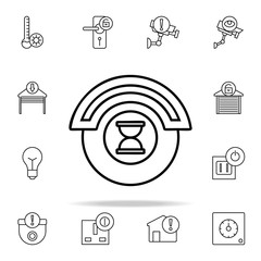 automation time icon. Automation icons universal set for web and mobile