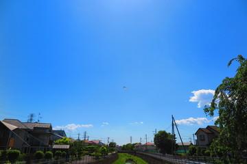 青空と川の風景3
