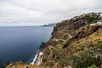 Ocean coast side on Madeira island, Portugal
