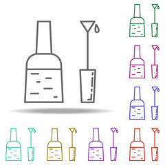 nail polish icon. Elements of Beauty, make up, cosmetics in multi color style icons. Simple icon for websites, web design, mobile app, info graphics
