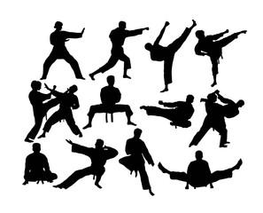 Karate Silhouettes Activity, art vector design