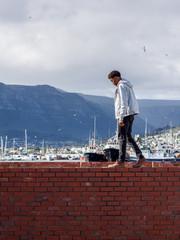 Man exploring Cape Town