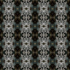 Ornamental Colourful Seamless High Resolution Pattern in  green and brown