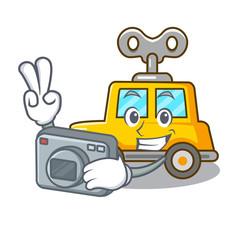 Photographer cartoon clockwork toy car for gift