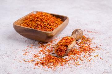 Traditional dry saffron spice