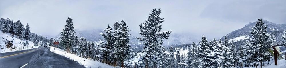 Mountain Road Vista in Winter