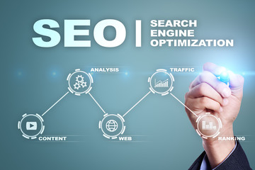 SEO Search engine optimization, Digital marketing, Business internet technology concept.