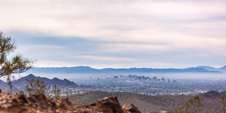 Scenic view of the populous Phoenix in Arizona