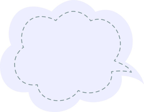 Japanese style color cute Stitched cloud