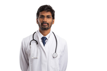 Portrait of indian doctor.