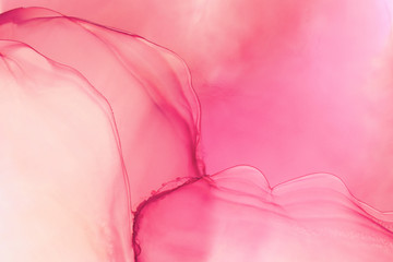 Wall Murals Candy pink Hand painted ink texture. Abstract background.