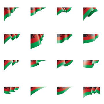 Malawi flag, vector illustration on a white background
