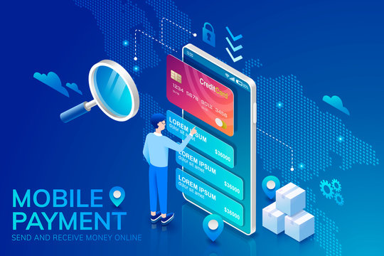 3d isometric mobile payment