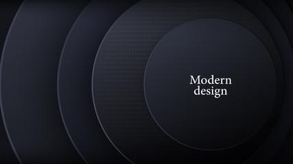 Modern gray round design