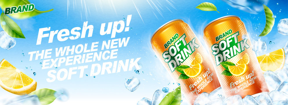 Refreshing soft drink banner ads