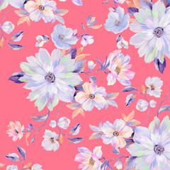Colorful roses, peony flowers, nice chrysanthemums