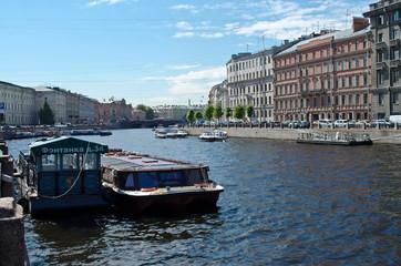 Saint-Petersburg. wide Fontanka river