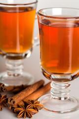 Hot tea and cinnamon