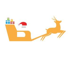 Merry christmas icon logo vector
