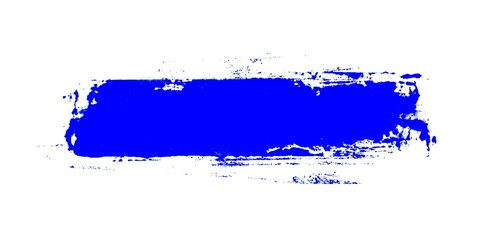 Gemalter schmutziger Streifen mit blauer Farbe