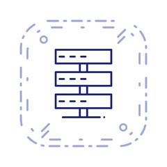 Servers SEO Line Complex Icon