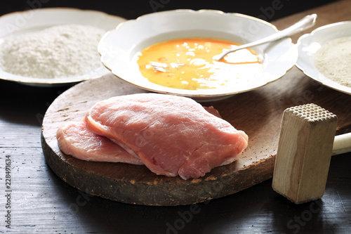 Schnitzel Panieren Stock Photo And Royalty Free Images On Fotolia
