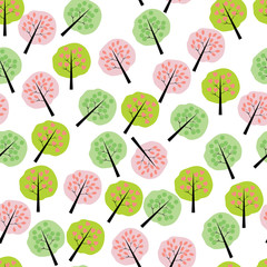 Pattern. Flat trees.