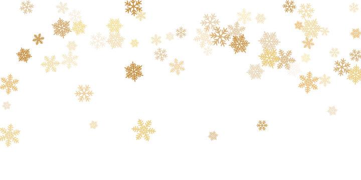 Snow flakes falling macro vector graphics
