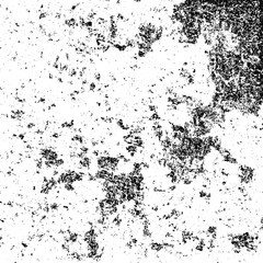 The grunge texture black and white. Vector abstract background from cracks, scratches, abrasions