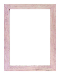 Frame for photos of white wood on a white background