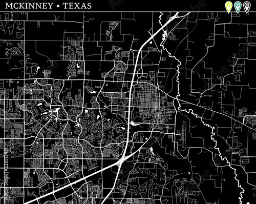Simple Map Of Mckinney Texas Stock Image And Royalty Free Vector