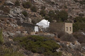 Church Agios Georgios at the trail from Diafani to Awlona on Karpathos in Greece