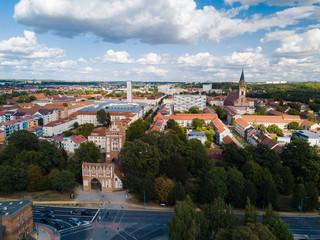 Blick zur Innenstadt von Neubrandenburg am Trepower Tor