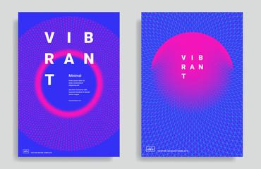 Set of trendy abstract design template Fotoväggar