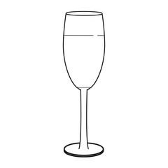 Wine cup pop art cartoon