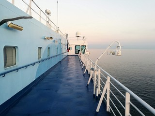 Ferryboat in the Mediterranean sea