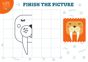 Copy and complete the picture vector blank game, illustration.