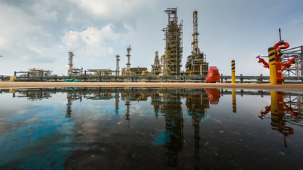 Oil and gas refinery plant.