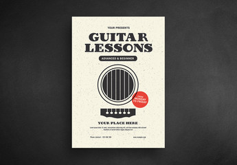 Guitar Lessons Flyer Layout