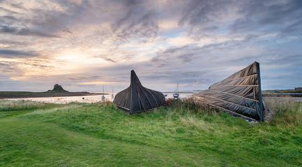 Boathouses at Lindisfarne