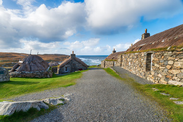 Wall Mural - Thatched Crofts on the Isle of Lewis