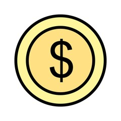 Dollars Ecommerce Line Filled Icon