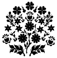 floral decoration folk vector eps 10