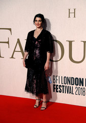 Actor Rachel Weisz arrives at the UK Premiere of The Favourite during the London Film Festival, in London