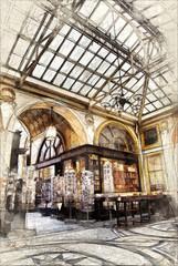 Sketch of Gallerie Vivienne