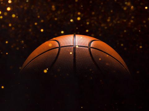 Basketball close-up on studio background - Stock image