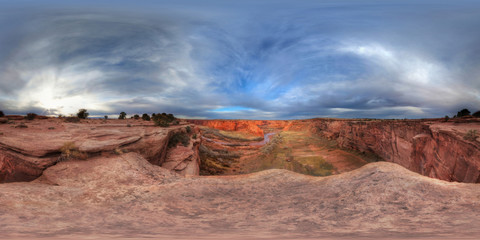 Over The Edge Of The Canyon De Chelly, Fort Defiance, Arizona, United States