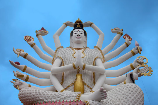 Riesige Shiva Statue Koh Samui Thailand